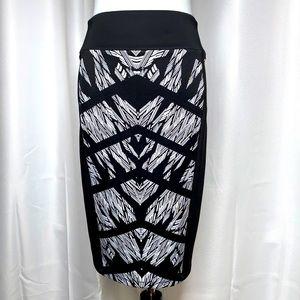 Thalia Sodi Chevron Abstract Scuba Pencil Skirt Md